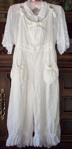 Most Adorable Magnolia Pearl Off White Linen Overalls