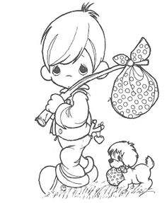 Precious Moments Bring A Lunchbox To Go Coloring Pages