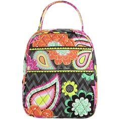 Vera Bradley Lunch Bunch Bag in Ziggy Zinnia ( 24) ❤ liked on Polyvore  featuring 8a792cb6f6cde