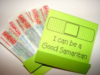 "Good Samaritan craft - cute idea for craft time at BIG Kids Camp and the final lesson on ""BIG Responsibility"" which talks about the Good Samaritan"