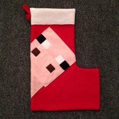 Handmade Minecraft inspired Creeper stocking. $25 via GeekSplash ...