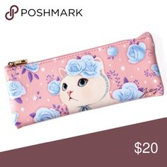 Choo Choo Pink Pencil Case Cute pencil case by Jetoy.  Animal-friendly vegan leather Cat-shaped zipper pull for attaching charms Delivered in a pretty clear plastic box perfect for gift-giving Dimensions: 3.1 x 7.7 in. Jetoy Bags Cosmetic Bags & Cases