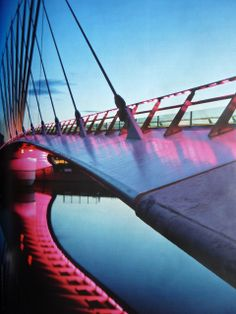 The bridge leading to the Imperial War Museum, Manchester