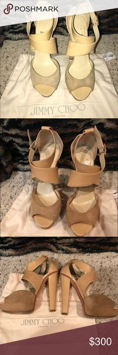 Jimmy choo shoes Jimmy choo shoes in great condition! Super comfortable and barely any wear Jimmy Choo Shoes Heels