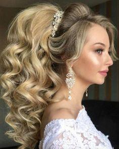 Long Wedding Hairstyles from Elstile /