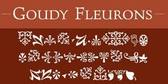Goudy Fleurons™ font download