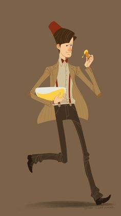 """Matt Smith/11th Doctor art by Claire Hummel - """"Fish fingers and custard"""" #dr_who #doctor_who"""