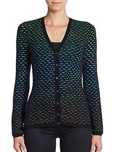M Missoni Bubble Knit Cardigan - Black  - Size 42 (6)