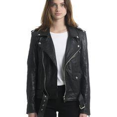 c8be612ac3c16e Womens Biker Jacket Black Vintage Biker
