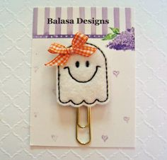 Halloween Ghost Planner Clip, Bookmark, Planner Accessory, Paper Clip