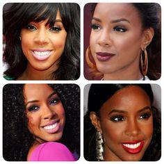 O Show de makes para pele negra, inspirados em Kelly Rowland.