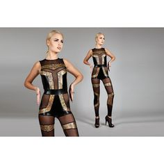 Annual Futuristic Spandex Catsuit Geometric Art Deco Leotard Sexy... ($1,440) ❤ liked on Polyvore featuring intimates, bodysuits, grey, women's clothing, sexy spandex bodysuit, lycra body suit, body suit, spandex bodysuit and gold body suit