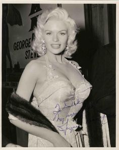 """I know immitation is supposed to be the highest form of flattery, but she is so vulgar I wish I could sue her in some way."" -Marilyn Monroe on Jayne Mansfield"