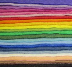 colors of our thick handmade 100% wool felt--Weir Crafts