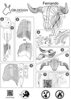Dyr til selvmontering lavet af økologisk Cardboard Sculpture, Cardboard Paper, Cardboard Crafts, Paper Toys, Wood Crafts, Diy And Crafts, 3d Cuts, 3d Puzzel, 3d Templates