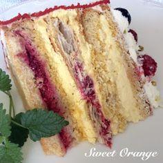 Sweet Orange: TORT MALINIAK Sweet Recipes, Cake Recipes, Dessert Recipes, Desserts, Pastry Design, Dessert Bread, Some Recipe, Cakes And More, Vanilla Cake