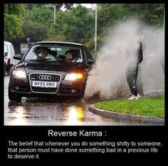 Reverse karma