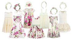 Monnalisa Milano jersey and flower-printed cotton dress - Ivory Cream - Ivory - 111286 | Melijoe.com