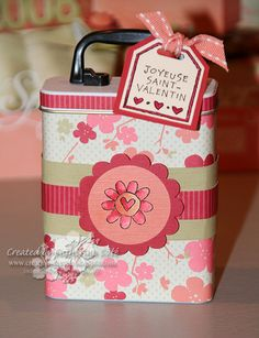 Stampin Up! Valentine's Day.  I didn't do the stamping up on these just used cute paper.