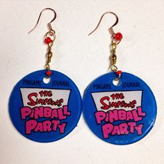 The Simpsons Pinball Party Earrings by Tiltcycle on Etsy
