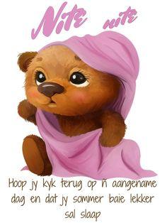 Good Night, Good Morning, Goeie Nag, Afrikaans, Sweet Dreams, Winnie The Pooh, Amanda, Disney Characters, Fictional Characters