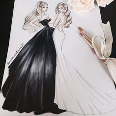 Angels Candice Swanepoel & Behati Prinsloo Levine at the Met Gala 2017 by @miss_victoria25 #FashionIllustrations|Be Inspirational ❥|Mz. Manerz: Being well dressed is a beautiful form of confidence, happiness & politeness