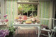 i love this vintage inspired dessert table.. concept created by Melissa of www.theloveliestday.com