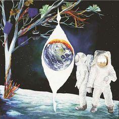Adam and Eve on the Moon  #shahkarshah #shahkarart #shahkarartwork #artwork #art #bestartwork #modernart #futureart