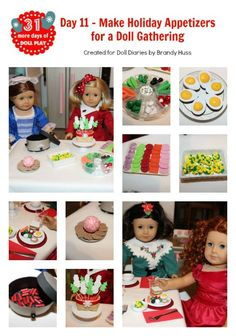 How to make a variety of doll sized appetizers and food from everyday craft supplies!
