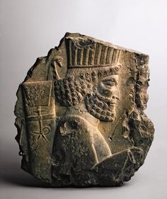 """aradeia: """"Fragment from an Achaemenid relief depicting a member of Darius or Xerxes's royal guard, dating to 500 BCE. Found in Iran and currently located in the Hermitage Museum. """""""