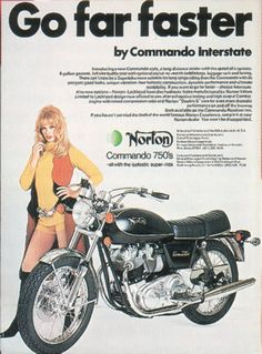Old Norton Motorcycle Ad. (My dad has this one at home. The ad and the bike)