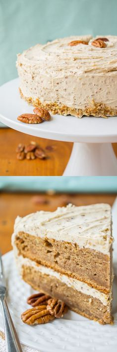 Cinnamon-Cardamom Cake with Maple Pecan Frosting from The Food Charlatan. This is a doctored yellow cake mix! So rich and delicious.
