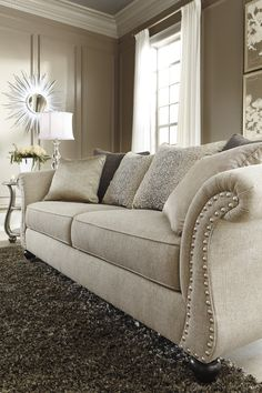 Details of the Ashley HomeStore Lemoore sofa... simply stunning.