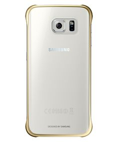 Samsung Galaxy S6 Edge Clear Cover Goud