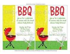 PRINTABLE Party Invitation  Retro BBQ Barbecue by dilibertodesign, $12.00