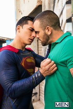 ryanrosepornstar: Click Here To Watch The Full Scene Reporter Clark Kent believes Batman is a vigilante who is not doing the city any favors. Clark believes that Superman's superpowers make him the city's true protector. Of course, he is probably biased being that he is the one and only man of steel. Watch Topher Di Maggio rescue Damien Crosse by fending off his attackers and then drilling his hole with his fat Superman cock. Click Here To Watch The Full Scene - Join For $1
