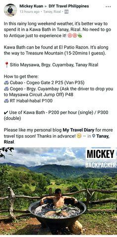 Kawa Bath - El Patio Razon Sitio Maysawa Brgy Cuyambay, Tanay Rizal