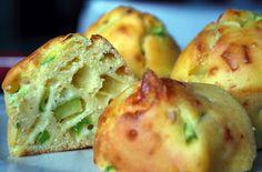 Muffin alle zucchine e caciocavallo