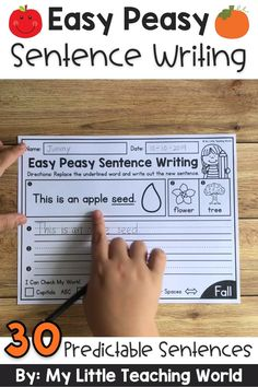 Fall Predictable Sentence Writing