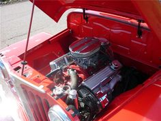 1949 WILLYS JEEPSTER CUSTOM CONVERTIBLE - Engine - 161917