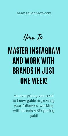 Mastering Instagram has never been so easy! Instagram Girl Boss is an EVERYTHING you need guide to get started, work with brands, grow your following and more! Its great for ANY one, no matter how many followers you have! #instagram #howtoinstagram #instagramgirlboss #growyourfollowing