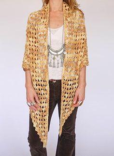 Vintage 1970s crochet shawl @ www.secondhandnew.nl