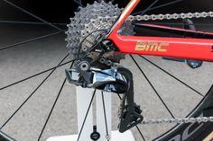 Check Out Greg Van Avermaet's Gold Accented BMC SLR01 http://www.bicycling.com/bikes-gear/2017-tour-de-france/check-out-greg-van-avermaets-gold-accented-bmc-slr01/slide/8