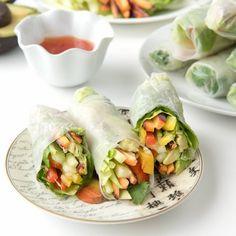 Easy DIY Vietnamese Vegetable Spring Rolls.  Fresh and fun to make!