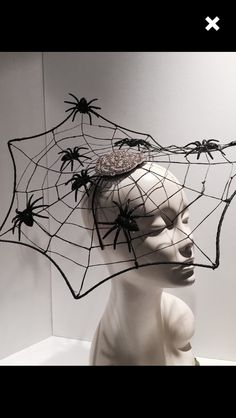 Items similar to Spider Web Fascinator- Halloween Headband- witch hat-Spider Web Costume-Black widow-Black Fascinator_ Made in USA-Halloween on Etsy Halloween Headband, Halloween Hats, Halloween Spider, Halloween 2019, Holidays Halloween, Halloween Makeup, Halloween Decorations, Spider Web Costume, Caroline Reboux