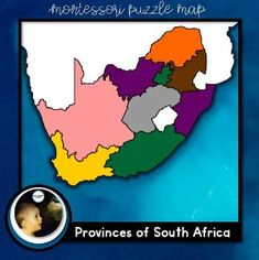 Boom Cards - South African Puzzle Map Provinces Of South Africa, The Province, Social Studies, Geography, Montessori, Puzzle, African, Map, Activities