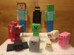 5 Custom Edible Fondant Minecraft Figures Cake Toppers Cupcake Decorations 3D | eBay