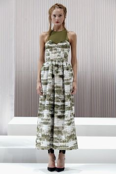 Wes Gordon's olive print dress from Spring/Summer 2013