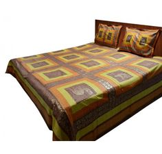 Buy Jaipuri Gold double bedsheet 100% cotton orange and yellow print Online at best price in India. Get more offers, deals, discount on Jaipuri Sheets at Loomkart.