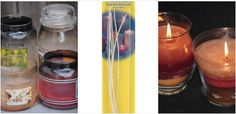 Melt down your old candles to make new, layered candles.